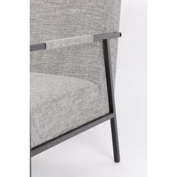 White Label Living Lounge Chair Wakasan Light Grey