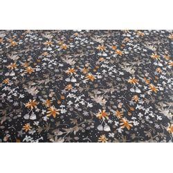 BePureHome Macaroni Bankje Fluweel Aquarel Flower Zwart - 165 CM