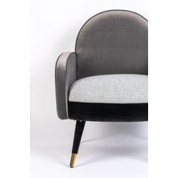 Zuiver Sam Lounge Chair Black Grey FR