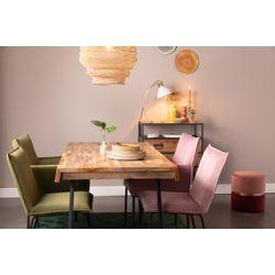 White Label Living Chair Floke Velvet Pink