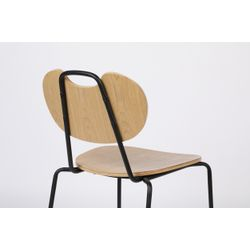 White Label Living Chair Aspen Wood Natural