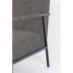 White Label Living Lounge Chair Wakasan Dark Grey
