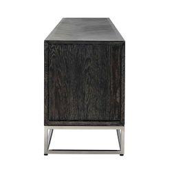 Richmond Interiors TV-dressoir 220 Blackbone silver 4-deuren (Zilver)