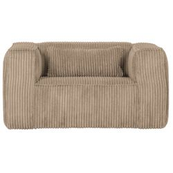 Woood Bean Fauteuil Grove Ribstof Travertin