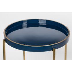 White Label Living Side Table Celina Dark Blue