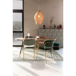 White Label Living Armchair Jolien Gold/Dark Blue