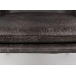 White Label Living Lounge Chair Bon Dark Grey