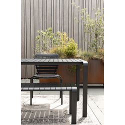 Zuiver Vondel Garden Eetbank Zwart - 129,5 CM
