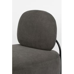 White Label Living Lounge Chair Polly Grey