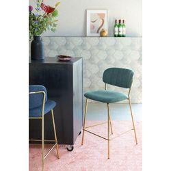 White Label Living Counter Stool Jolien Gold/Dark Green