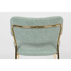 White Label Living Chair Jolien Gold/Light Green