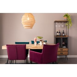 White Label Living Chair Floke Velvet Wine