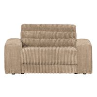 BePureHome Date Loveseat Grove Ribstof Travertin