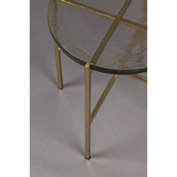 Dutchbone Vidrio Side Table Brass
