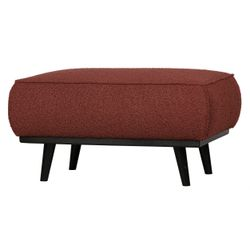 BePureHome Statement Hocker Bouclé Chestnut