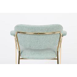 White Label Living Armchair Jolien Gold/Light Green