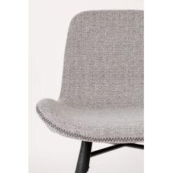 White Label Living Chair Lester Light Grey