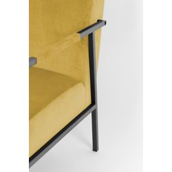 White Label Living Lounge Chair Wakasan Yellow