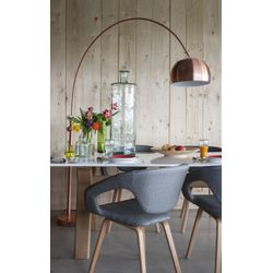 Zuiver Metal Bow Vloerlamp Copper