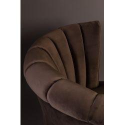 Dutchbone Flair Lounge Chair Donkerbruin