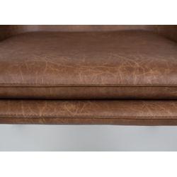 White Label Living Lounge Chair Bon Brown