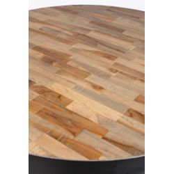 White Label Living Bar Table Maze Round Natural