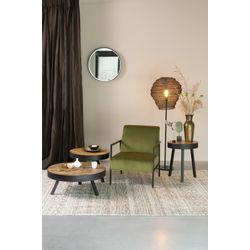 White Label Living Floor Lamp Lena Black