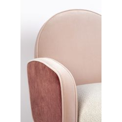 Zuiver Sam Lounge Chair Pink White FR