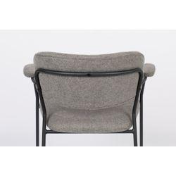 White Label Living Armchair Jolien Black/Grey