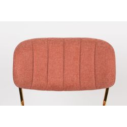 White Label Living Chair Jolien Gold/Pink