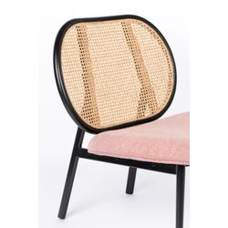 Zuiver Spike Lounge Chair Naturel/Roze