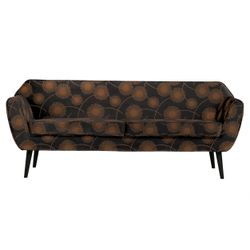 Woood Exclusive Rocco Sofa Bloom Zwart - 187 CM