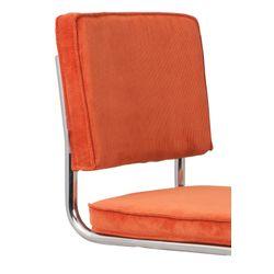 Zuiver Ridge Stoel Brushed Rib Oranje