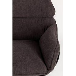 White Label Living Lounge Chair Rocky Dark