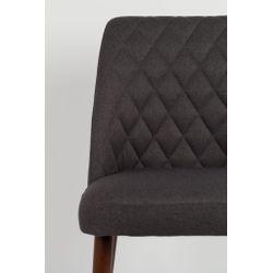 White Label Living Chair Conway Dark Grey