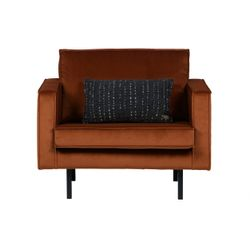 BePureHome Rodeo Fauteuil Velvet Roest