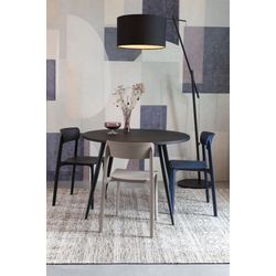 White Label Living Chair Clive Dark Blue