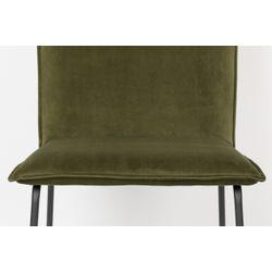 White Label Living Chair Floke Velvet Olive