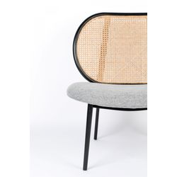 Zuiver Spike Lounge Chair Naturel/Grijs