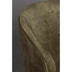 Dutchbone Lunar Eetkamerstoel Velvet Moss