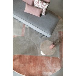 Zuiver Hilton Vloerkleed Roze - Rond