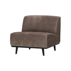 BePureHome Statement Fauteuil Brede Platte Rib Taupe