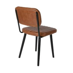 White Label Living Chair Jake Worn Brown