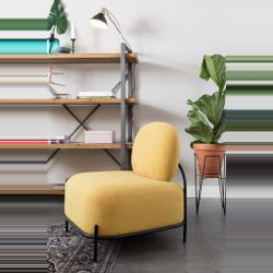 White Label Living Lounge Chair Polly Yellow