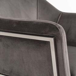 Richmond Interiors Stoel Tresanto Stone Velvet / Silver (Quartz Stone 101)