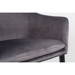 White Label Living Armchair Catelyn Grey