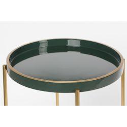 White Label Living Side Table Celina Dark Green