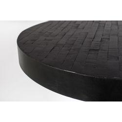White Label Living Counter Table Maze Round Black