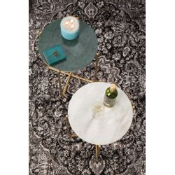 White Label Living Side Table Timpa Marble Green