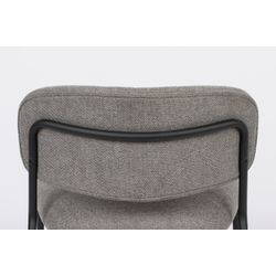 White Label Living Lounge Chair Jolien Black/Grey